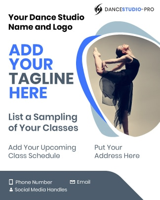 This is a template of a dance studio marketing flyer.