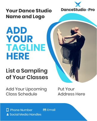 Here's an example of a flyer you might create to enhance your dance studio marketing strategy.