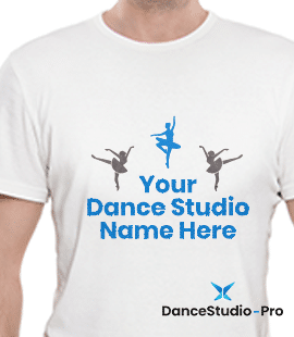 To boost your dance studio marketing efforts, include your studio's name and logo on your branded merchandise.